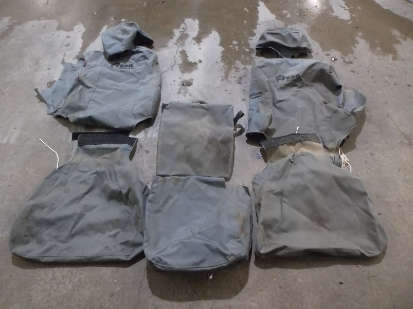 TigerTough seat covers after four years in a service truck.