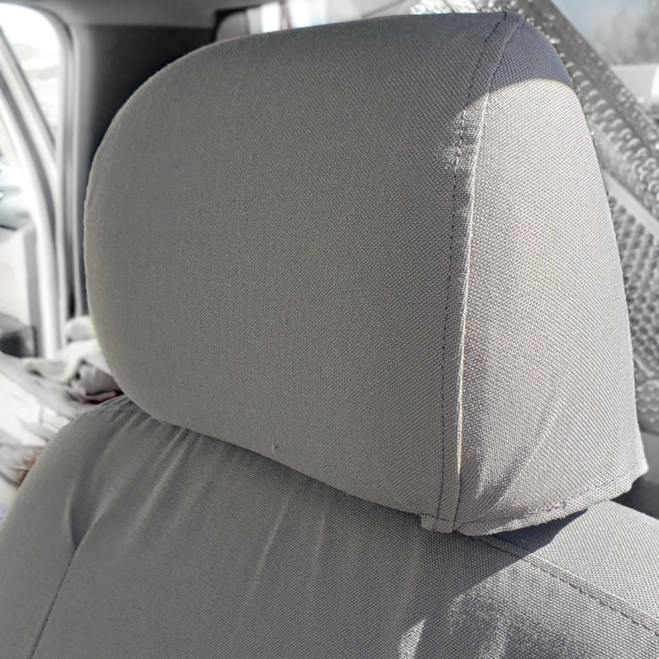 gray TigerTough seat covers headrest cover