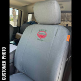 RAM Truck with gray waterproof TigerTough seat covers.