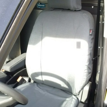 Ford Transit Connect with gray TigerTough seat covers.