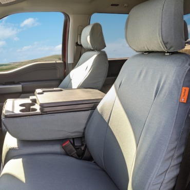 2021 Ford F150 with gray TigerTough seat covers